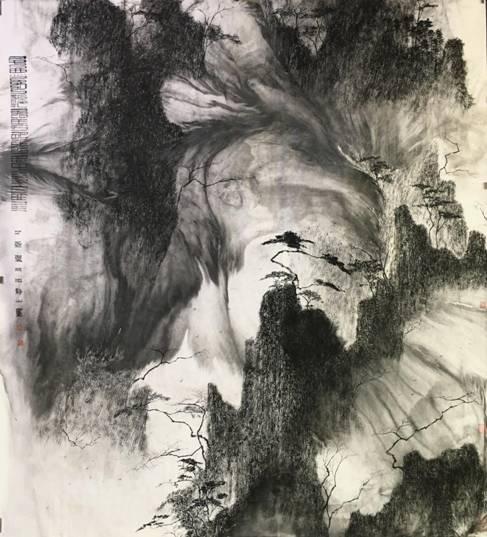 云海浮沉 2017年  175×193cm